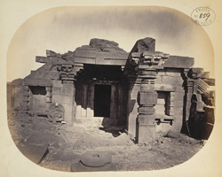View of interior and entrance to the shrine of the second temple at Dhotra, Buldana District, Berar 1000333366